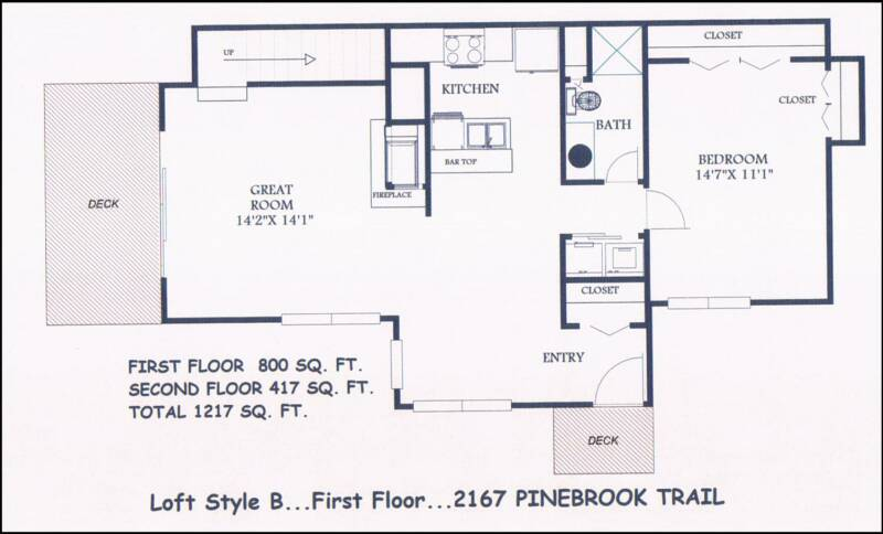 pine mill ridge condos for rent - House Floor Plans With Loft